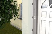 Gutta Seitenblende HD 180x60x0,6 cm gefrostet Haustürwand Vordach Windschutz