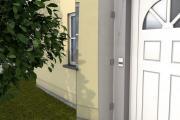 Gutta Seitenblende HD 180x60x0,6 cm klar Haustürwand Vordach Windschutz