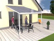 Gutta Terrassenüberdachung Bausatz Typ D 3,06 x 4,06 m Weiss