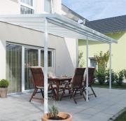 Gutta Terrassenüberdachung Bausatz Typ F 5,46 x 4,06 m Weiss