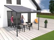 Gutta Terrassenüberdachung Bausatz Typ D 3,06 x 4,06 m Anthrazit
