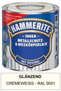 Hammerite Innen Metallschutz- und Heizkörperlack 500 ml glänzend cremeweiß RAL 9001