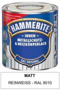 Hammerite Innen Metallschutz- und Heizkörperlack 500 ml matt reinweiß RAL 9010