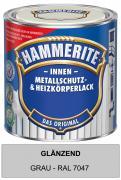 Hammerite Innen Metallschutz- und Heizkörperlack 500 ml glänzend grau RAL 7047