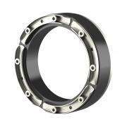 Hauff Standard-Ringraumdichtung mit U-Profil-Pressplatten für Rohre HSD200 1x159 b40 A2/EPDM55