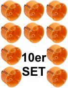 Hohlwanddose 60mm tief orange Unterputz 10 Stück