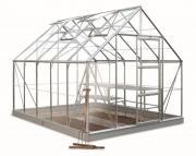 Juliana Gewächshäuser Halls Universal 108 (8,3 m²) 6 mm SDPL Set inkl. Fundament + Startmix Sparset AKTION Juli 2019