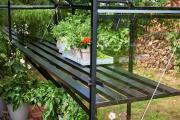Juliana Lamelle Tisch zu Gewächshaus Premium 8,8 m² schwarz zubehör