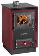 Justus Festbrennstoffherd Rustico-50 2.0 Bordeauxrot 7kW