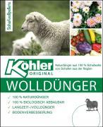 Köhler Wolldünger 2,5 kg Langzeit-/ Volldünger Naturdünger Biologisch abbaubar