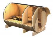 Karibu Fasssauna im Schraub-Stecksystem 42 mm Massivholz Fasssauna 3 205*323*216 cm