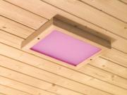 Karibu Saunazubehör LED Farblicht 320 x 240 x 38 mm inkl. Steuerung