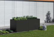 KGT Aluminium-Hochbeet 210 Gartenbeet Blumenbeet Profilsystem anthrazit-grau
