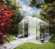 KGT Gewächshaus Flora IV blank 2,27 x 3,01 m (6,83 m²) 6mm Polycarbonat UV-geschützt