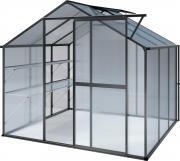 KGT Gewächshaus Flora lll anthrazit 2,27 x 2,27 m (5,15 m²) 6mm Polycarbonat UV-geschützt