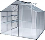 KGT Gewächshaus Flora lll blank 2,27 x 2,27 m (5,15 m²) 6mm Polycarbonat UV-geschützt