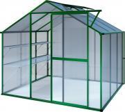 KGT Gewächshaus Flora lll moosgrün 2,27 x 2,27 m (5,15 m²) 6mm Polycarbonat UV-geschützt