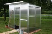 KGT Gewächshaus Jubilea ll blank 2,27 x 1,50 m (3,77 m²) 6mm Polycarbonat UV-geschützt
