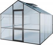 KGT Gewächshaus Lilie IV anthrazit 2,97 x 4,29 m (12,75 m²) 10mm Polycarbonat UV-geschützt