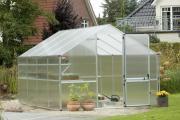 KGT Gewächshaus Orchidee III anthrazit 2,97 x 3,23 m (9,6 m²) 10mm Polycarbonat UV-geschützt