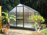 KGT Gewächshaus Orchidee III moosgrün 2,97 x 3,23 m (9,6 m²) 10mm Polycarbonat UV-geschützt