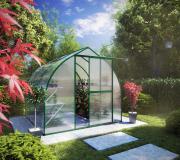 KGT Gewächshaus Rhodo lll moosgrün 2,27 x 2,27 m (5,15 m²) 6mm Polycarbonat UV-geschützt