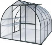 KGT Gewächshaus Rhodo lV anthrazit 2,27 x 3,01 m (6,83 m²) 6mm Polycarbonat UV-geschützt
