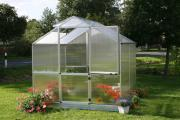 KGT Gewächshaus Rose ll anthrazit 2,33 x 2,17 m (5,0 m²) 10 mm Polycarbonat UV-geschützt