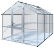 KGT Gewächshaus Rose lll blank 2,33 x 3,23 m (7,53 m²) 10mm Polycarbonat UV-geschützt