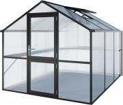 KGT Gewächshaus Tulpe III anthrazit, 2,33 x 3,23 m (7,53 m²) 16mm Polycarbonat UV-geschützt