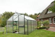 KGT Gewächshaus Tulpe IV anthrazit 2,97 x 4,29 m (12,75 m²) 16mm Polycarbonat UV-geschützt