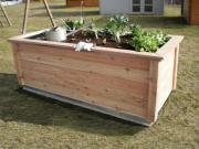 KGT Holz-Hochbeet Modell Woody 210, 2,14 x 0,99 x 0,79 m (BxTxH)