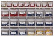 Klappboxenleiste mit Kabelverbinder 414 x 601 x 94 mm 2650 Teile