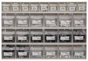 Klappboxenleiste mit Schlauchschellen 414 x 601 x 94 mm 460 Teile