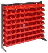 Kleinteileregal rot 72 rote Lagerboxen 160 X 95 X 75 mm Höhe: 90 cm Breite: 102,5 cm