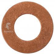 Kupfer-Dichtring DIN 7603-A Form A Kupfer verzinkt 10.2 x 20 x 2 mm 25 Stück