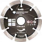 KWB Aggresso-Flex® Black-Line Diamant Trennscheibe Ø 115 x 22 mm Schnittstärke 10,0 x 1,9 mm