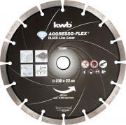 KWB Aggresso-Flex® Black-Line Diamant Trennscheibe Ø 230 x 22 mm Schnittstärke 10,0 x 2,4 mm