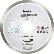 KWB Aggresso-Flex® White-Line Diamant Trennschreibe Ø 115 x 22 mm Schnittstärke 5,0 x 1,8 mm