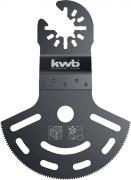 KWB Akku-Top Multi-Tool Tiefschnitt-Tauchsägeblatt halbrund CV-Stahl 80 mm Schnitttiefe 55 mm