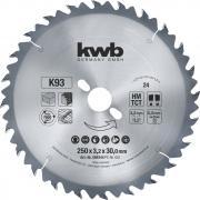 KWB HM Kreissägeblatt Typ K für Bauholz Ø 300 x 30 x 1,8 mm 28 Zähne K 930