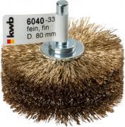 KWB Holzstrukturbürste für Bohrmaschinen HSS Stahldraht vermessingt Ø 0,27 mm gewellt Ø 80 x 40 mm lose