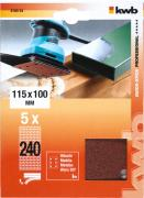 KWB Quick-Stick Schleifstreifen Holz & Metall Edelkorund gelocht 115 x 100 mm K 240 (5 Stück)