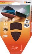 KWB QUICK-STICK Schleifvlies, 100 x 62, 93 mm, Körnung 280