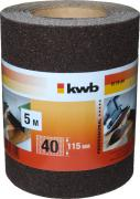 KWB Schleifmittel-Rolle Holz & Metall Korund 5,0 m x 115,0 mm K 40