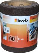 KWB Schleifmittel-Rolle Holz & Metall Korund 5,0 m x 93,0 mm K 60