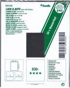 KWB Schleifpapier Lack & Auto, wasserfest, 230 x 280, Körnung 240