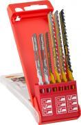 KWB Stichsägeblätter-Set Holz und Metall Einnockenschaft 2 x fein, 1 x grob, 1 x Kurve HCS & 2 x Mittel Bi-Metall (6 Stück)