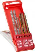 KWB Stichsägeblätter-Set Holz und Metall Universal-Schaft 2 x fein, 1 x grob, 1 x Kurve HCS & 2 x Mittel Bi-Metall (6 Stück)