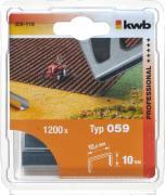 KWB Tackerklammern, 10,6 mm breit Typ 059/359, Feindraht, Stahl, C-Spitze